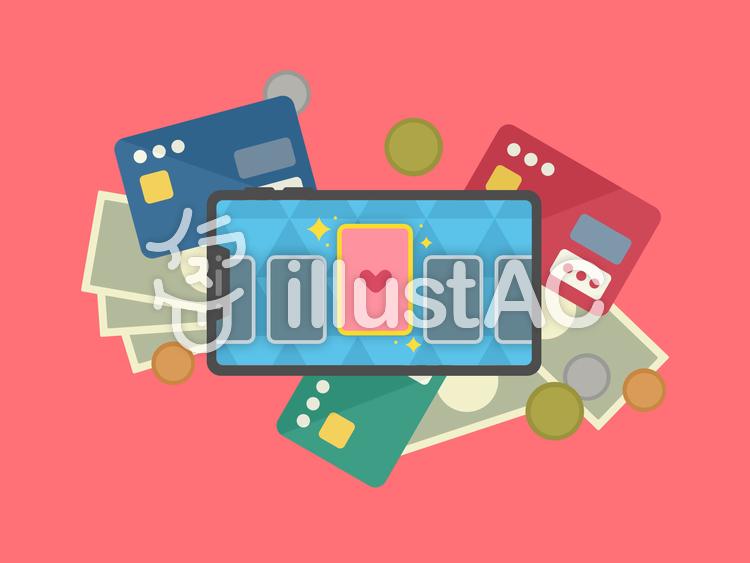 スマホゲーム 課金 カードゲーム レアのイラスト