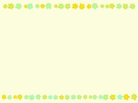 Flower frame ver 05 background yellow