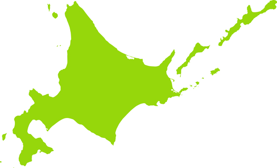 Hokkaido _ Northern Four Islands _ Silhouette _ Yellow Green