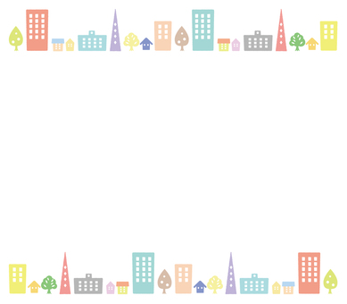 Cityscape colorful background