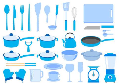 Kitchenware Blue