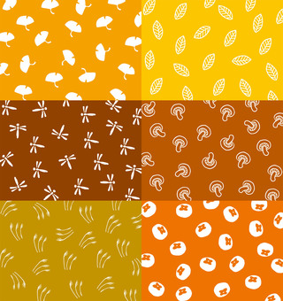 Autumn hand-painted background material 6 patterns