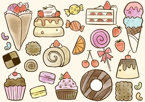 Sweets illustration set 1