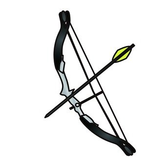 Archery's bow and arrow