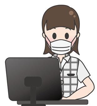 Summer clerk woman-computer input 3