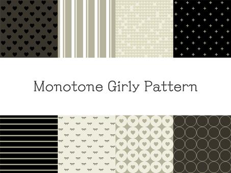 Monotone girly pattern