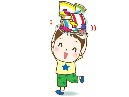 お菓子詰め放題②(喜ぶ男の子)