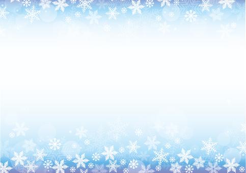 雪裝飾框架