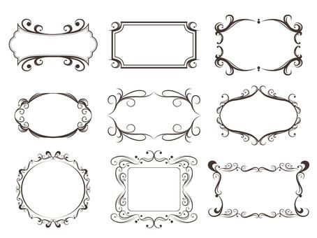Vintage frame decorative frame