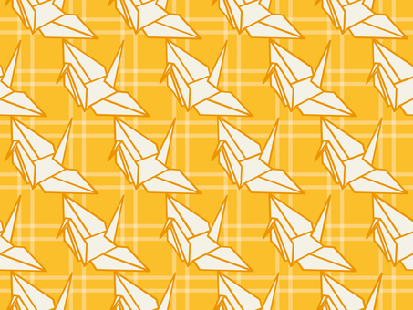 Wallpaper Folded crane 01 Loopy yellow