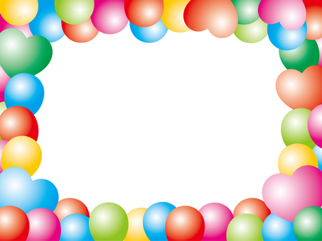 Colorful balloon frame