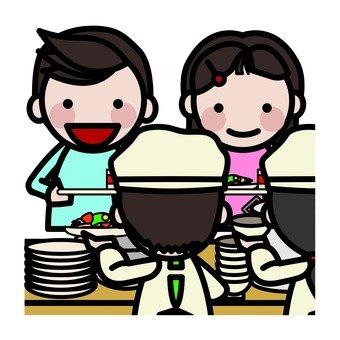 Give food when Fan