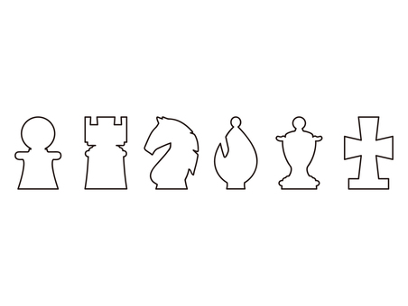 Chess piece symbol mark