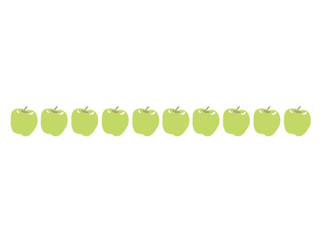 Green apple border 1