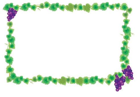 Grapes and ivy leaves