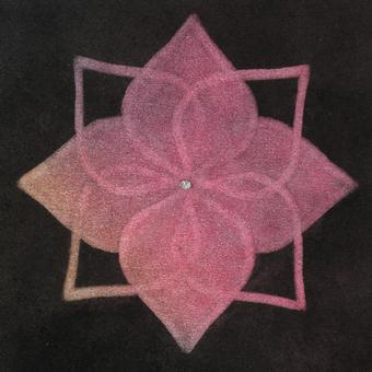 Mandala art hydrangea
