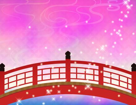 赤い橋_橋とキラキラ