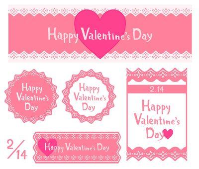 Valentine handwritten letter banner