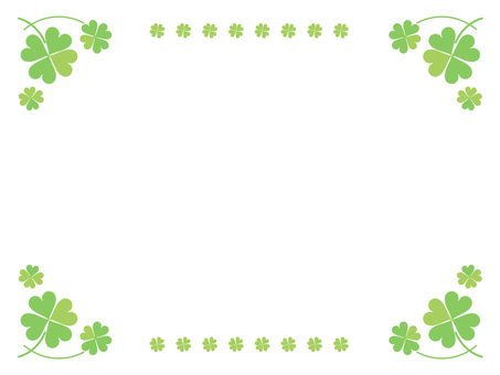 Four leaves clover bright