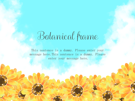 Sunflower frame 06