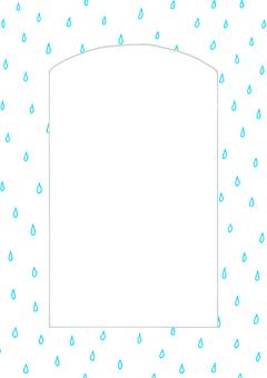 Window frame rain vertical ①