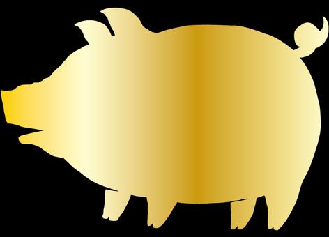 Pig (Gold) 1