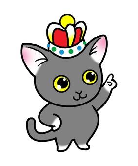 가리키는 고양이 3