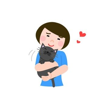 A woman holding a cat
