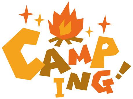 Camping ☆ CAMPING ☆ English logo