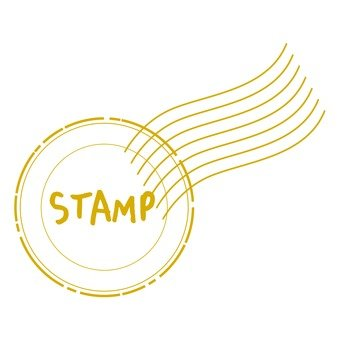 Antique stamp Yellow