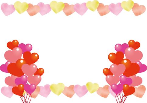 Heart balloon frame 1