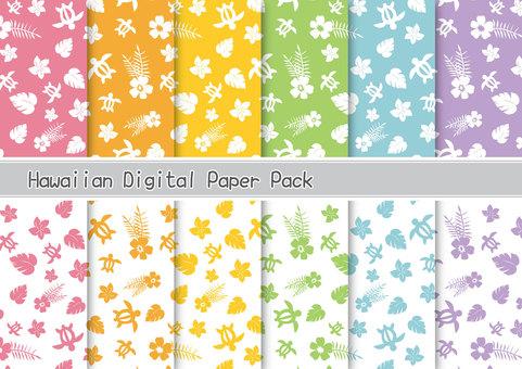 Hawaiian pattern material set
