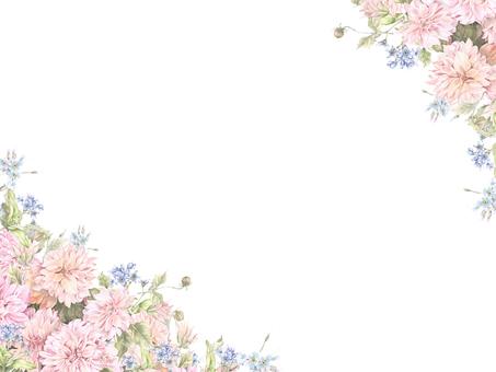 Flower frame 149 - pink dahlia and forgiveness flower frame