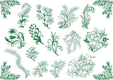 Plant image material set