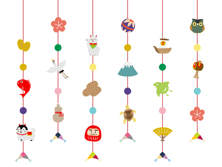 Hanging chick (lucky) set