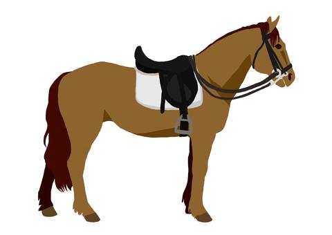 Baba equestrian horse (brown hair)