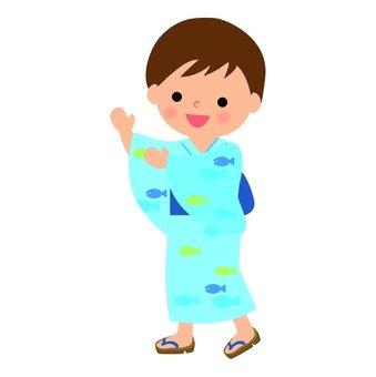 盂蘭盆舞的男孩
