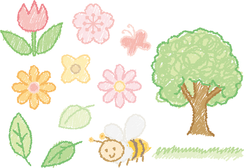 Springish Crayon illustration