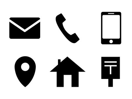 Icon set around the contact