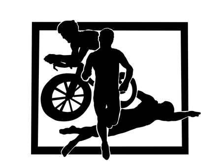 Triathlon silhouette 2