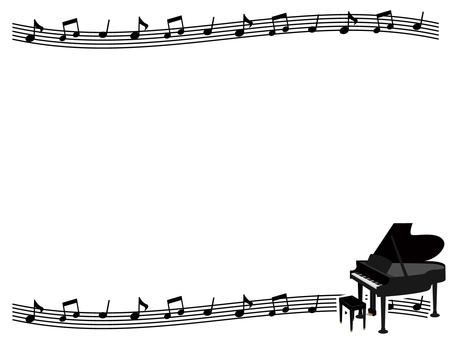 Piano decorative frame 2