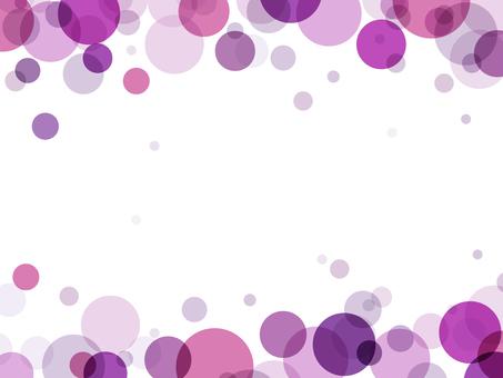 """Bubble frame """"purple"""""""