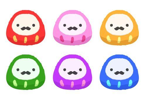 Daruma colorful / different color