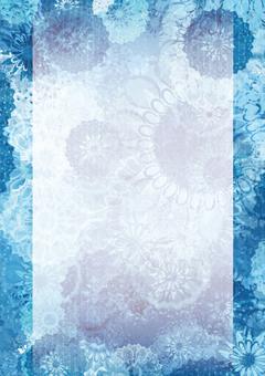 Japanese pattern dahlia (blue)
