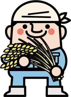 Uncle fairy rice farmer