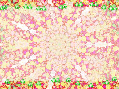 Flower kaleidoscope frame 2