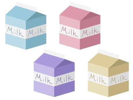 Milk 4 color set