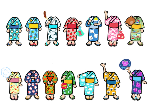 Little Yukata 3 Change clothes