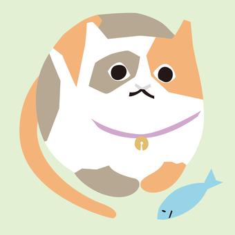 Mikane cat and fish