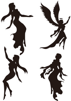 Goddess silhouette 2